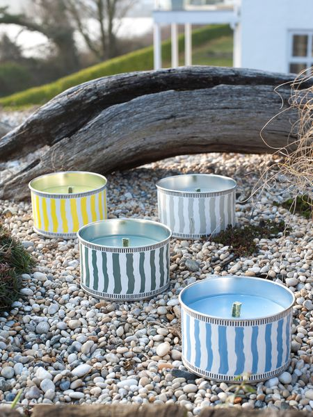 Citronella candle cans