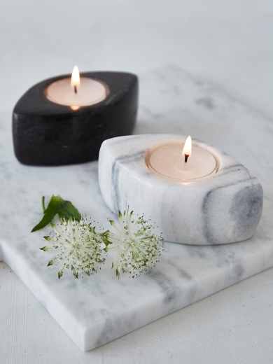 marble tealight holder - nordic house