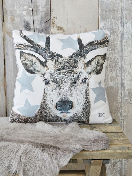nordic deer cushion - nordic house