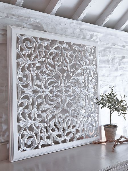 carved wall panel - nordic house