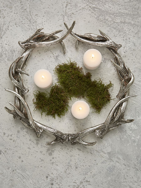 antler wreath - nordic house