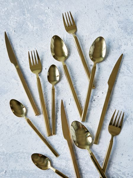 gold cutlery - nordic house