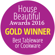 House Beautiful Gold Award for best Tableware 2016