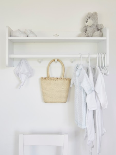 Star Clothes Rack with Shelf