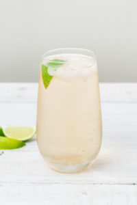 Rhubarb Gin and Ginger cocktail