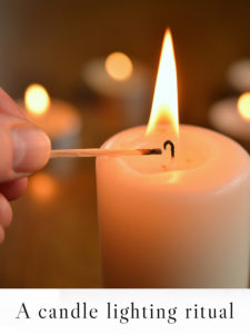 How to light a candle with intention