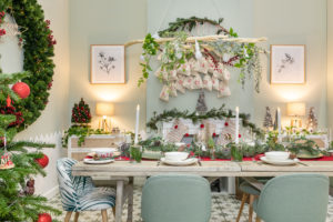 Nordic Christmas Dining Room