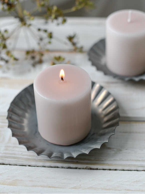 Blush Pink Pillar Candle