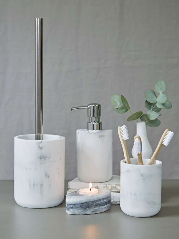 Marble Effect Toothbrush Holder