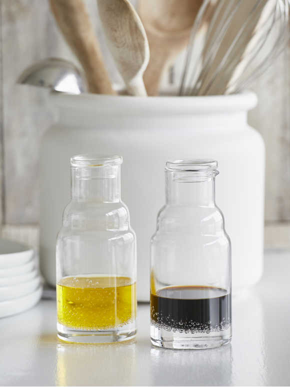 Bubble Glass Oil and Vinegar Set