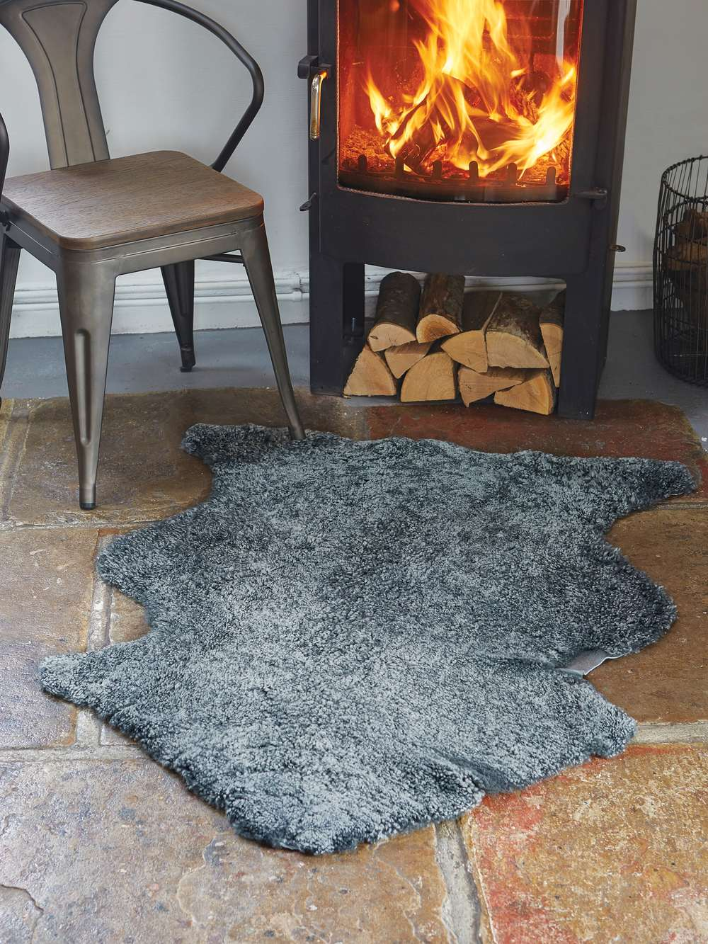 Luxurious Grey Curly Sheepskin Rug Luxury Grey Sheepskin Rug