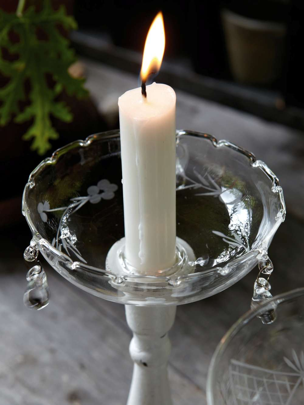 Glass Candle Bobeche Candle Wax Drip Catchers Nordic House