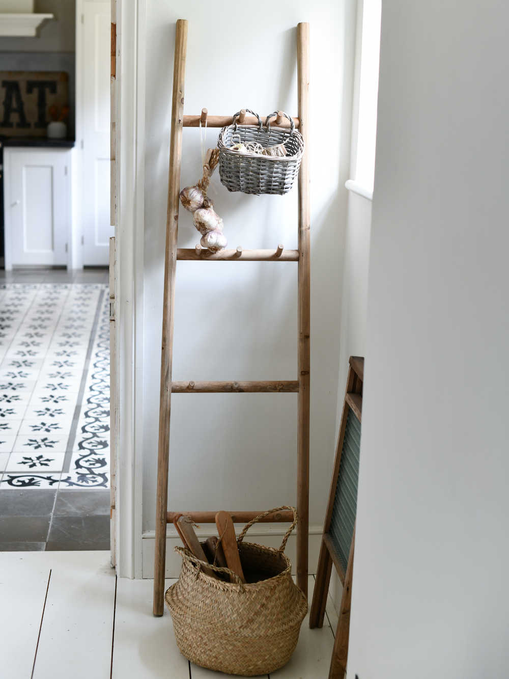 Wood Display Ladder Wooden Display Ladder Towel Ladder