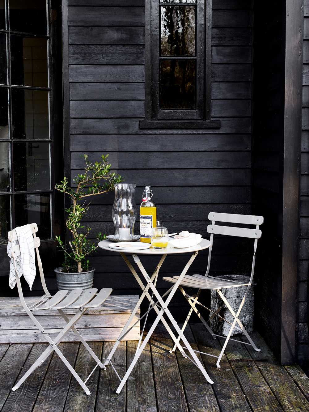 Metal Bistro Set Scandi Outdoor Table And Chairs
